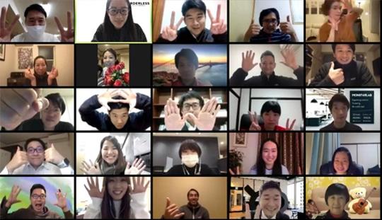 オンライン討議の様子(日本を代表する社会起業家とのプランフィードバック会やアカデミー生同士の討議を元にプランを深堀りします)