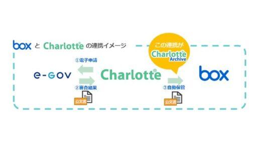 公文書の管理負担を軽減!公文書連携・自動保存サービス「Charlotte Archive」の提供を開始へ。